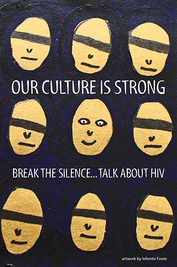 Our culture is strong. Break the silence…Talk about HIV (Get the Facts Aboriginal Youth Series) [Postcard, 10 per package] Image