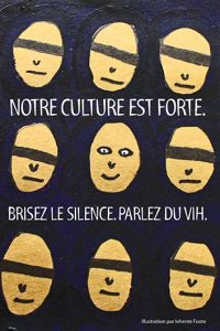 Notre culture est forte. Brisez le silence. Parlez du VIH. (Série Renseignez-vous pour Jeunes Autochtones) [Postcard] Image