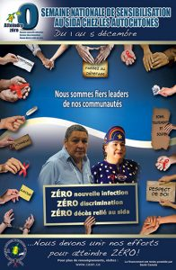 Semaine nationale de sensibilisation au sida chez les autochtones : Nous sommes fiers leaders de nos communautés [Poster] Image