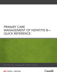 Primary Care Management of Hepatitis B - Quick Reference Image
