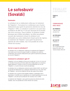 FEUILLET D'INFORMATION : Le sofosbuvir Image