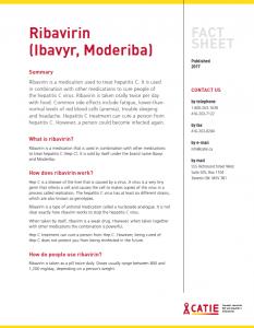 Fact sheet: Ribavirin (Copegus, Ibavyr, Moderiba) Image