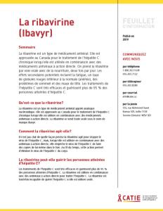FEUILLET D'INFORMATION : La ribavirine (Ibavyr) Image