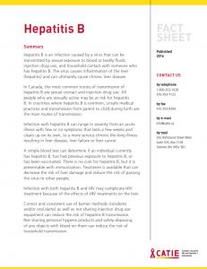Fact sheet: Hepatitis B Image