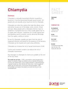 Fact sheet: Chlamydia Image