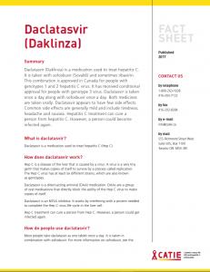 Fact sheet: Daclatasvir (Daklinza) Image