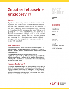 Fact sheet: Zepatier (elbasvir + grazoprevir) Image