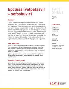 Fact sheet: Epclusa (velpatasvir + sofosbuvir) Image