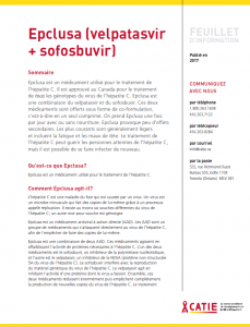 FEUILLET D'INFORMATION: Epclusa (velpatasvir + sofosbuvir) Image
