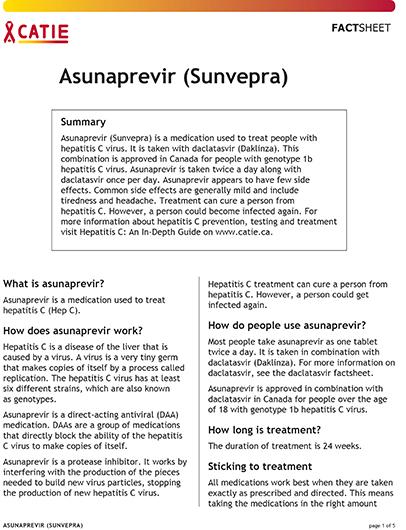 Fact sheet: Asunaprevir Image