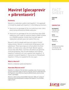 Fact sheet: Maviret (glecaprevir + pibrentasvir) Image
