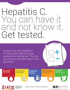 Hep C Key Messages: Hepatitis C. You can have it and not know it. Get Tested. [Small poster] Image