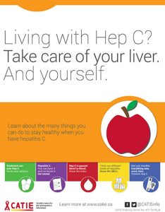Hep C Key Messages: Living with Hep C? Take care of your liver. And yourself. [Small poster] Image