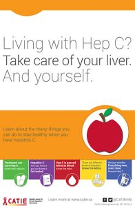 Hep C Key Messages: Living with Hep C? Take care of your liver. And yourself. [Large poster] Image