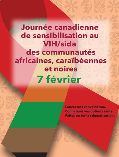 Journée canadienne de sensibilisation au VIH/sida des communautés africaines, caraïbéennes et noires [Affiche] Image