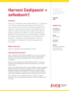 Fact sheet: Harvoni (ledipasvir + sofosbuvir) Image