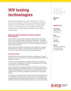 Fact sheet: HIV Testing Technologies Image