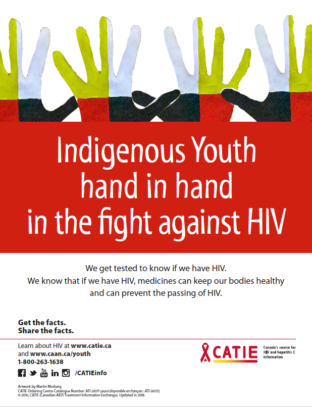 Indigenous Youth hand in hand in the fight against HIV (Get the Facts Indigenous Youth Series) [Poster] Image