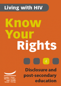 Know Your Rights 4: Disclosure and post-secondary education Image