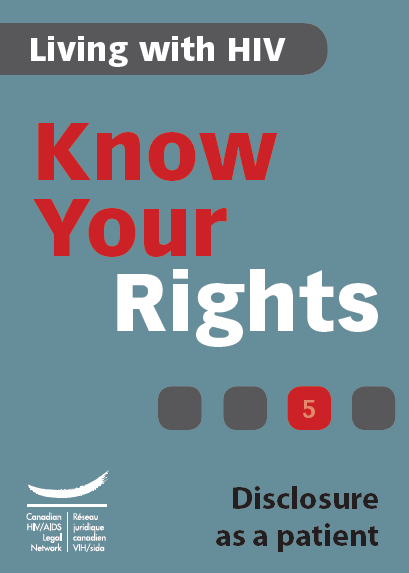 Know Your Rights 5: Disclosure as a patient Image