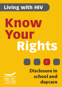 Know Your Rights 7: Disclosure in school and daycare Image