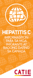 Hepatitis C information for immigrants and newcomers: English and Tagalog [50 per package] Image