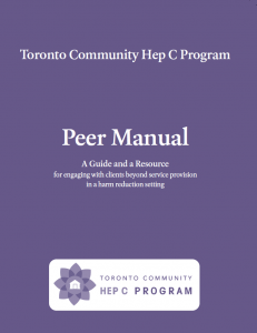 Toronto Community Hep C Program PEER MANUAL Image