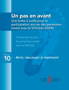 Un pas en avant : Une boîte à outils pour la participation accrue des personnes vivant avec le VIH/sida (GIPA) Module 10 - Actif, vieillissant et séropositif Image