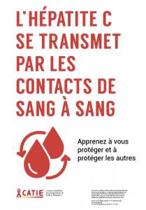 L'hépatite C se transmet par les contacts de sang à sang [Affiche] Image