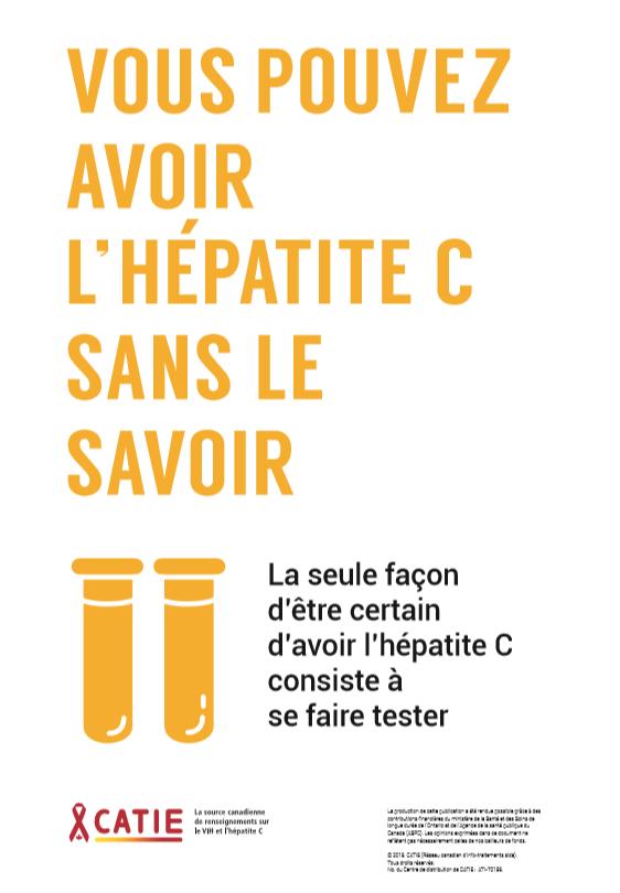 Vous pouvez avoir l'hépatite C sans le savoir [Affiche] Image