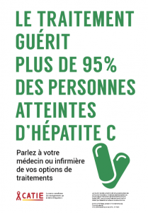 Le traitement guérit plus de 95 % des personnes atteintes d'hépatite C [Affiche] Image