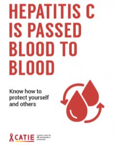 Hepatitis C Is Passed Blood to Blood [Post card] Image