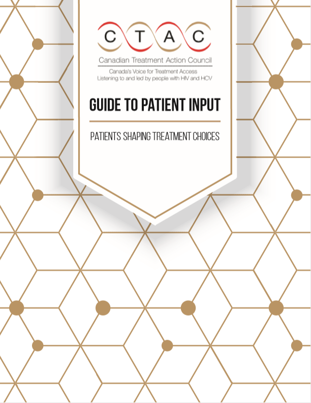CTAC's Guide to Patient Input. Patients Shaping Treatment Choices Image